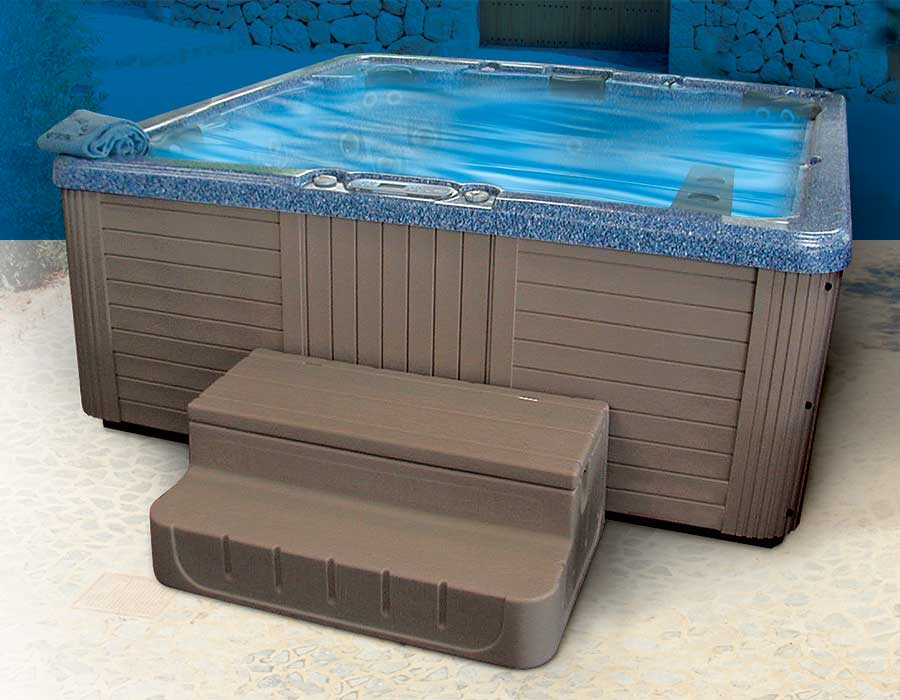 Storage Stairs for Hot Tub