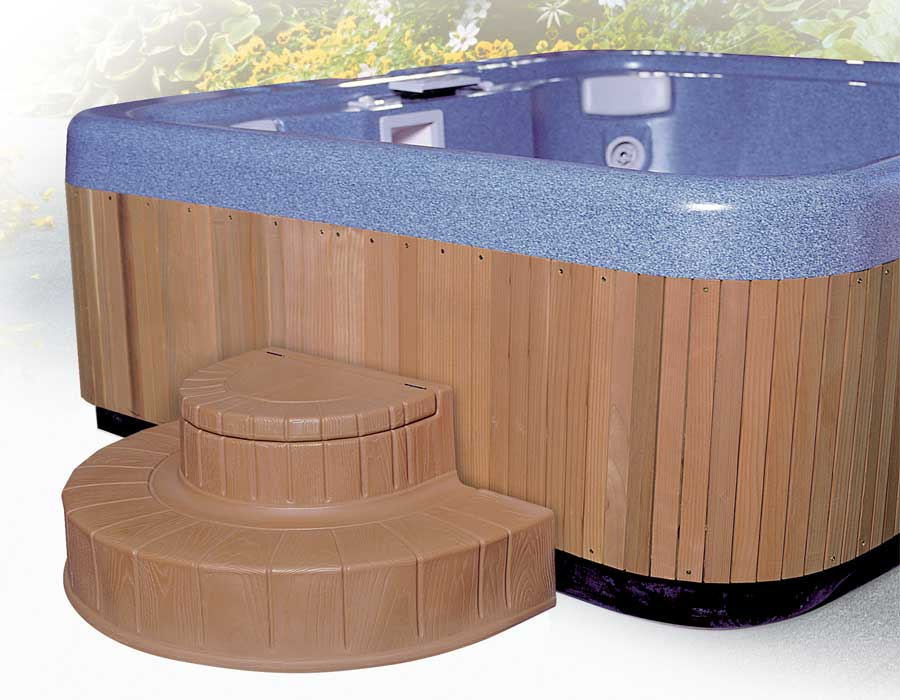 Storage Steps for Hot Tubs and Spas